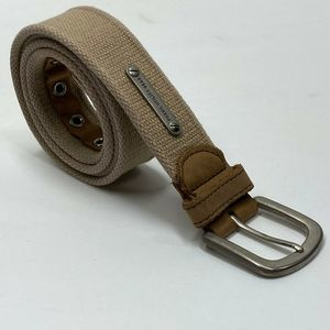 Fossil Utility Gear Mens Belt Brown Leather Trim